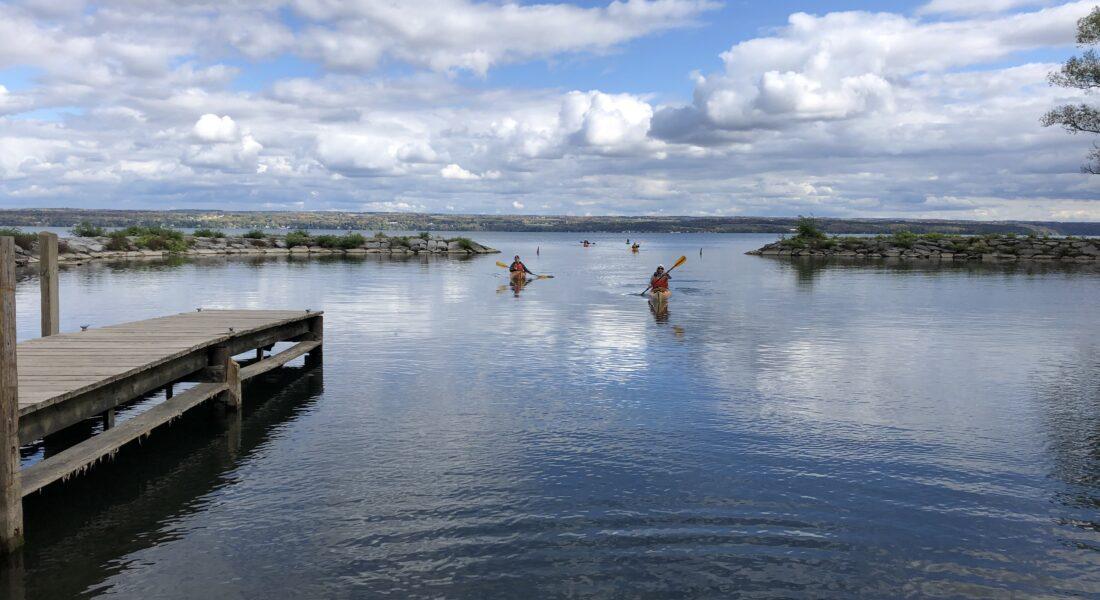 Kayak Across Cayuga Lake To Aurora NY