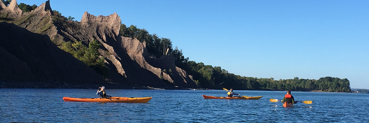 Kayaking Lake Ontario from Chimney Bluffs to Sodus Point