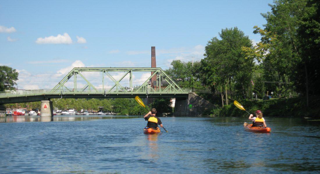 Kayak Time Cayuga-Seneca Canal Seneca Falls Bridge