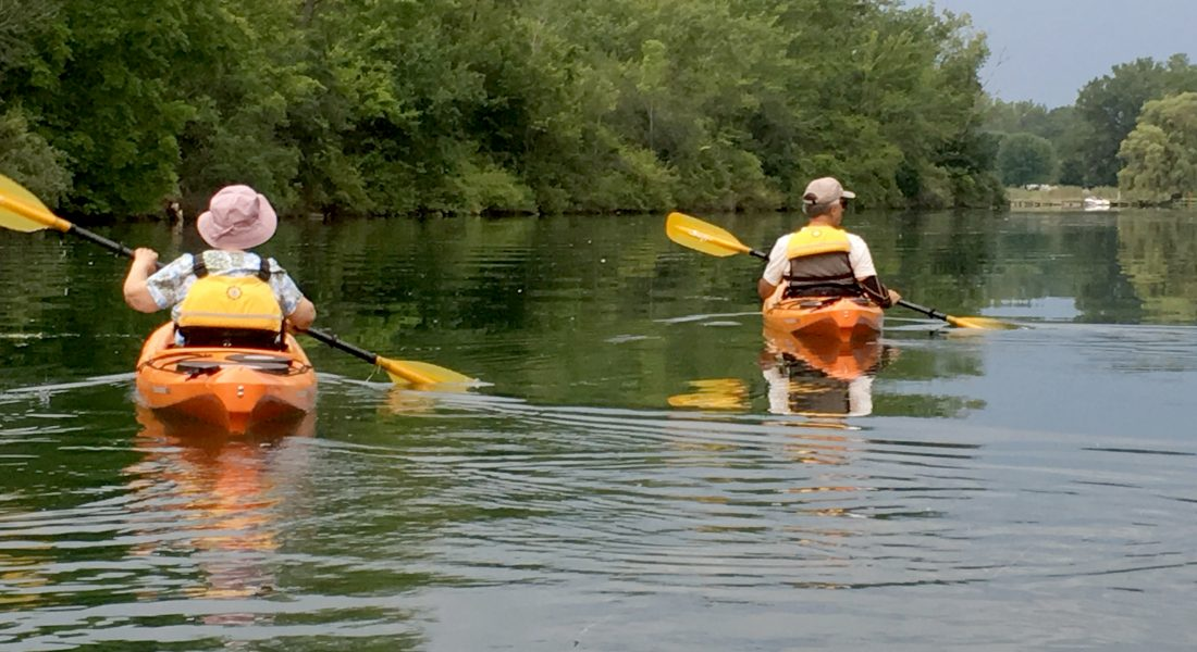 Mom and David on the Cayuga-Seneca Canal